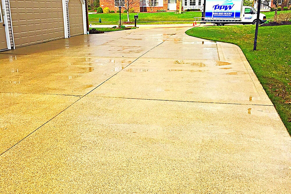 a clean driveway makes a great first impression to homebuyers
