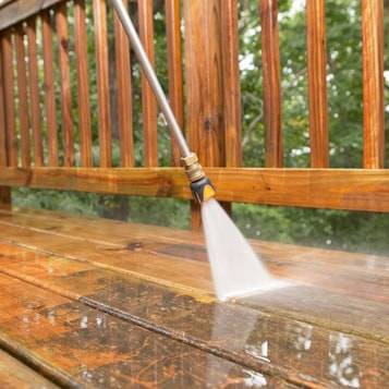 Wood Deck Pressure Cleaning in Birmingham, AL