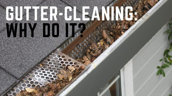 why bother with gutter cleaning?